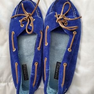 Sperry Blue Suede Loafers